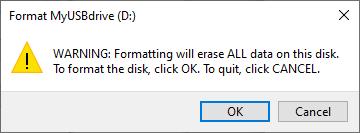 Format warning